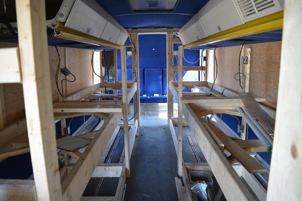 April 13th: Bunk beds coming along
