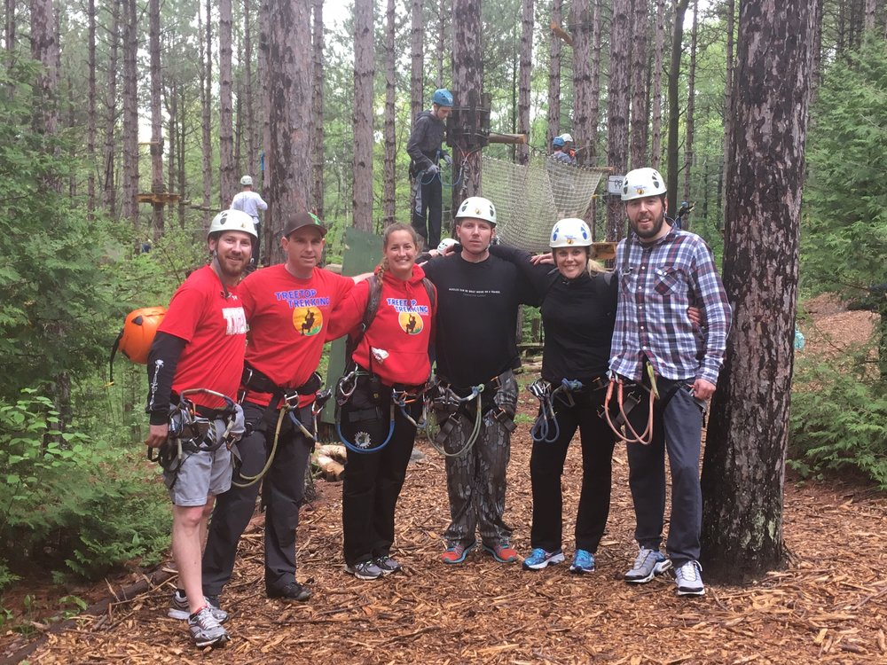 Pictured left to right:  Brent, Mike & Rachael (the awesome guides), Ben, Heather and PTBOCanada's Aaron Elliott