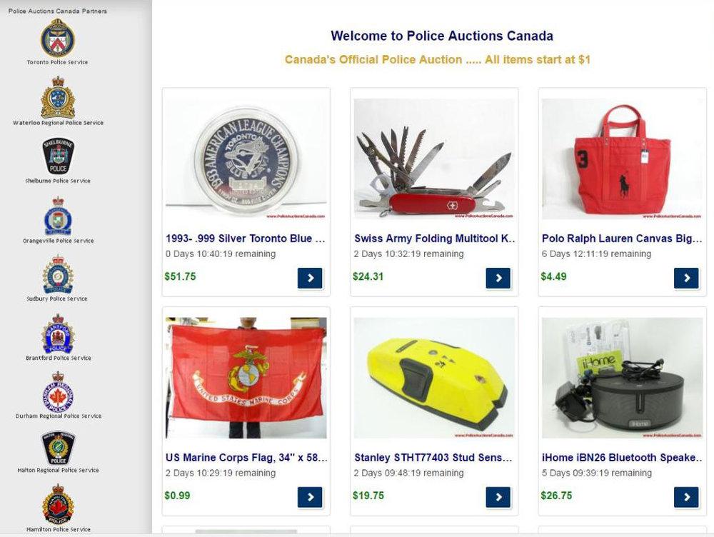 ee724c4ab577 Peterborough Police Auction Goes Online — PtboCanada