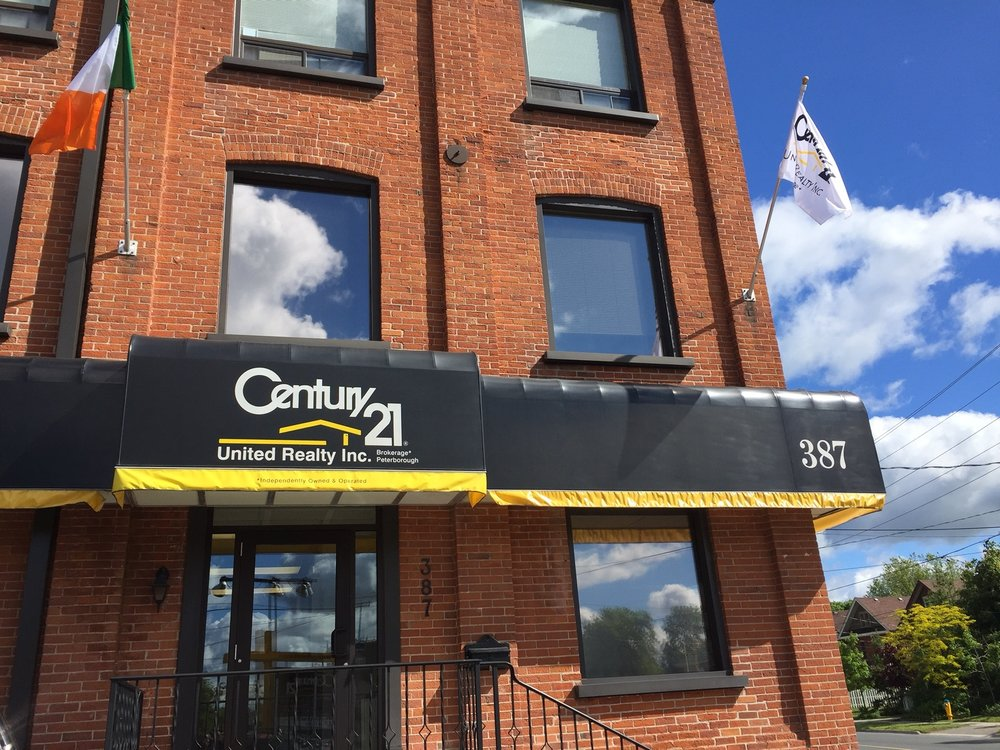 The beautiful Century 21 building on George Street in downtown Peterborough
