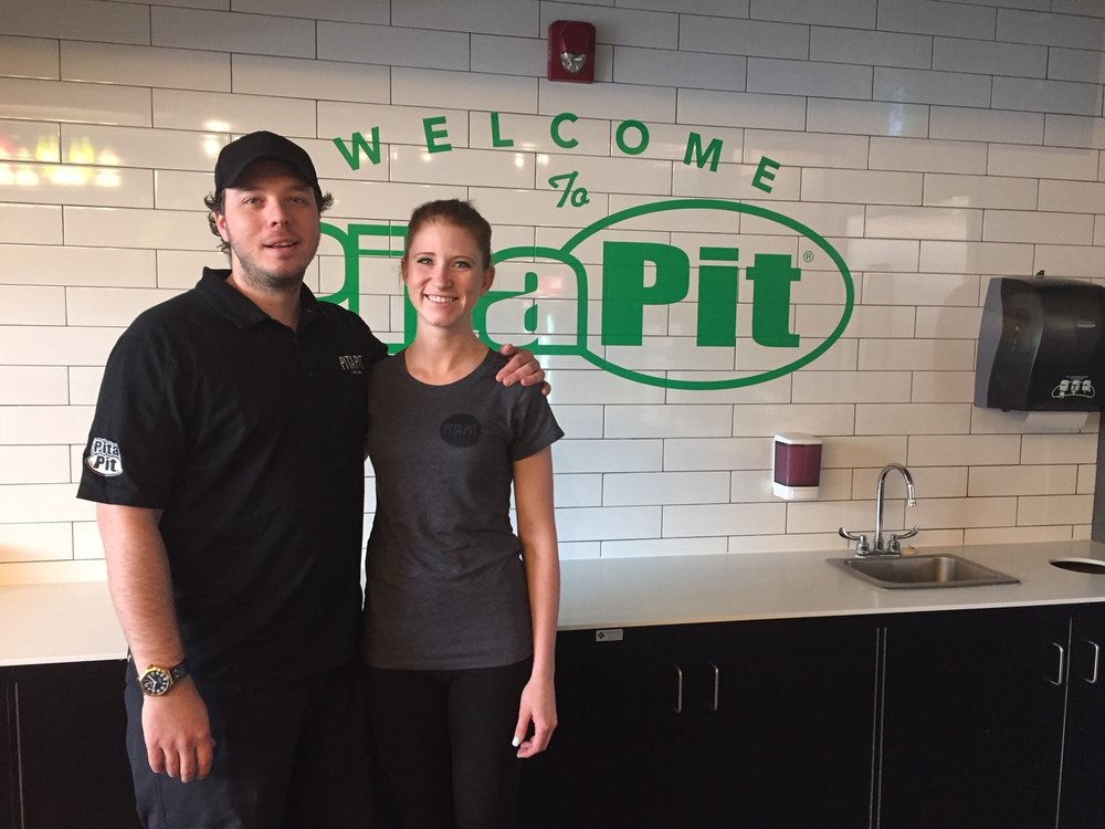 The couple loves running the pita pit together and have been welcomed by the community