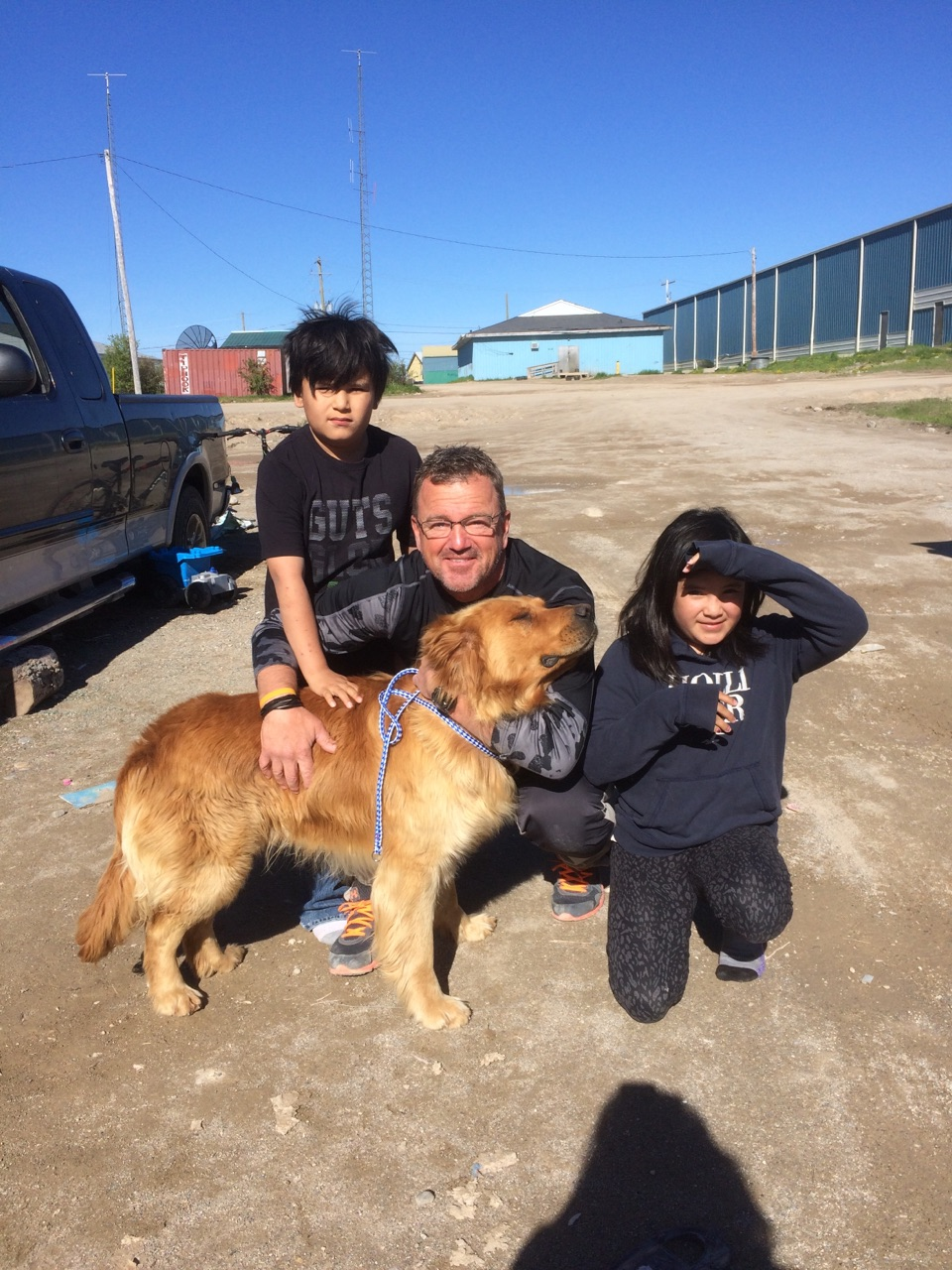 Peterborough's Jeff Day pictured in Big Trout Lake First Nation (Photo courtesy Peterborough Humane Society)