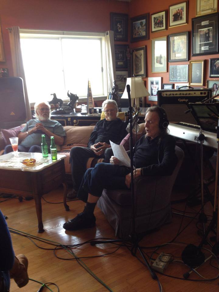 Ronnie Hawkins, Kris Kristofferson and Gordon Lightfoot at Hawkstone Manor in May 2016 (Photo via The Weber Brothers, Facebook page)