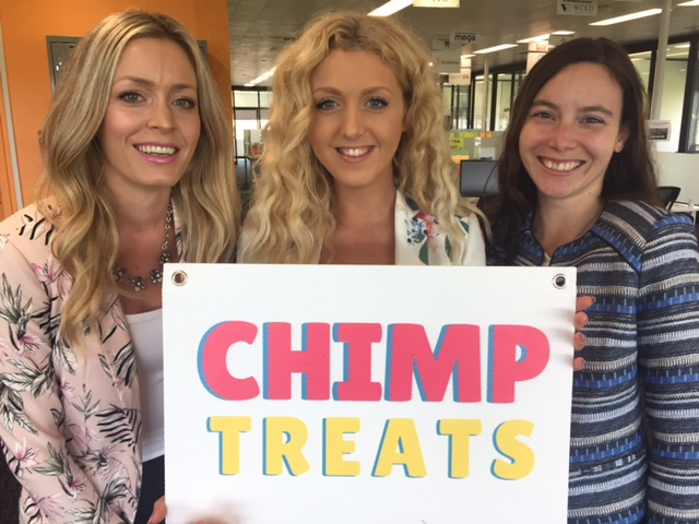 Hammer and her Chimp Treats team are growing