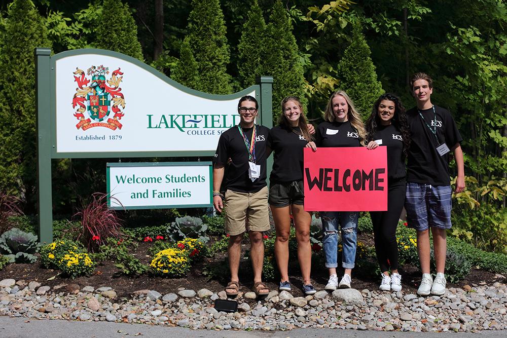 2017 Graduates Liam Kaller (Peterborough), Sara Hubble (Selwyn), Carissa Hickson (Otonabee), Hanan Hammoud (Lakefield), Michael Hudson (Peterborough)