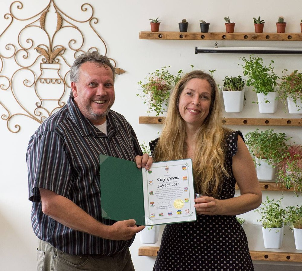 DBIA's Terry Guiel pictured with Tina Bromley