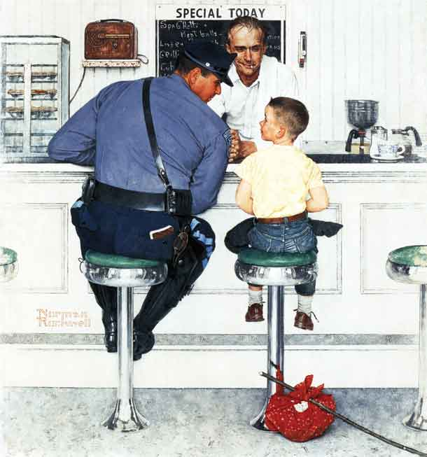 Norman Rockwell's famous painting  The Runaway , was the cover of this issue that featured the Lift Lock.