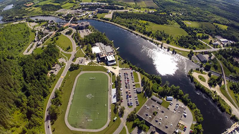 Aerial photo Trent field courtesy Trent University