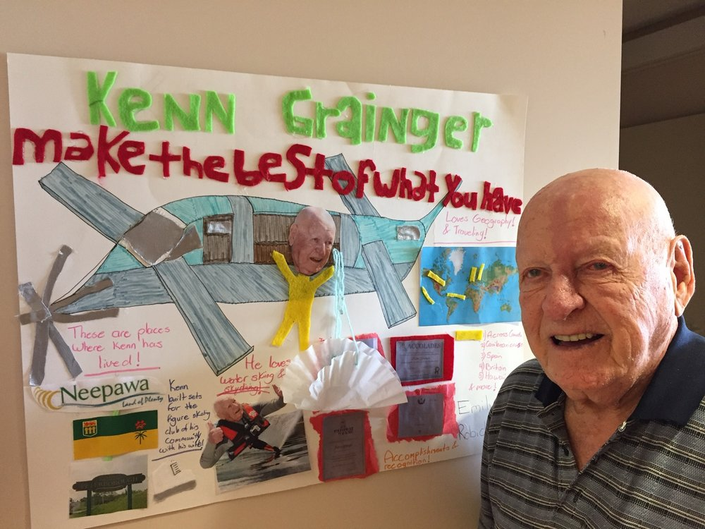 "A student made this for Ken covering his amazing journey in life: ""Make the Best Of What You Have""."