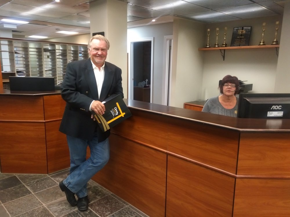 Terry Horrigan in the Century 21 United Realty office