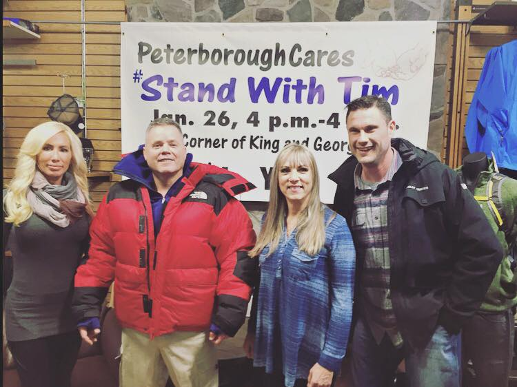 Peterborough Cares team with Farquharson (Photo courtesy Peterborough Cares Facebook page)