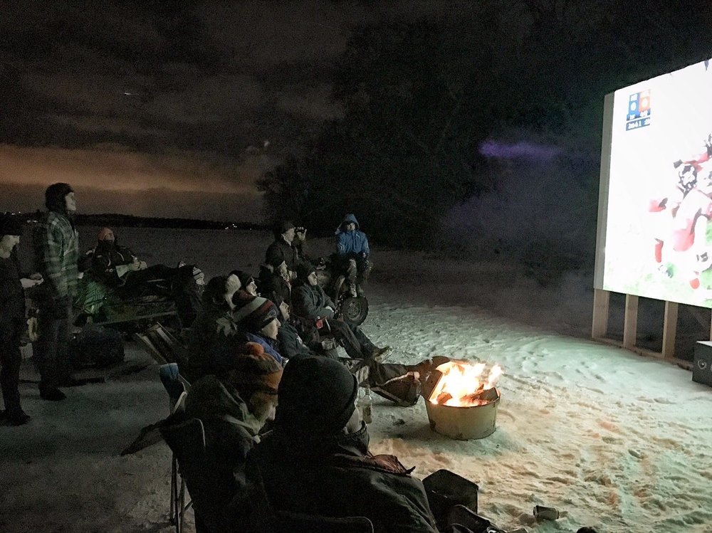 Photo from 2017 Super Bowl party on Chemong Lake
