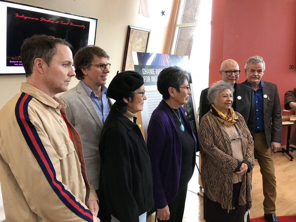 Wenjack and Downie families join celebration to launch Chanie Wenjack School for Indigenous Studies (Picture via Trent University)