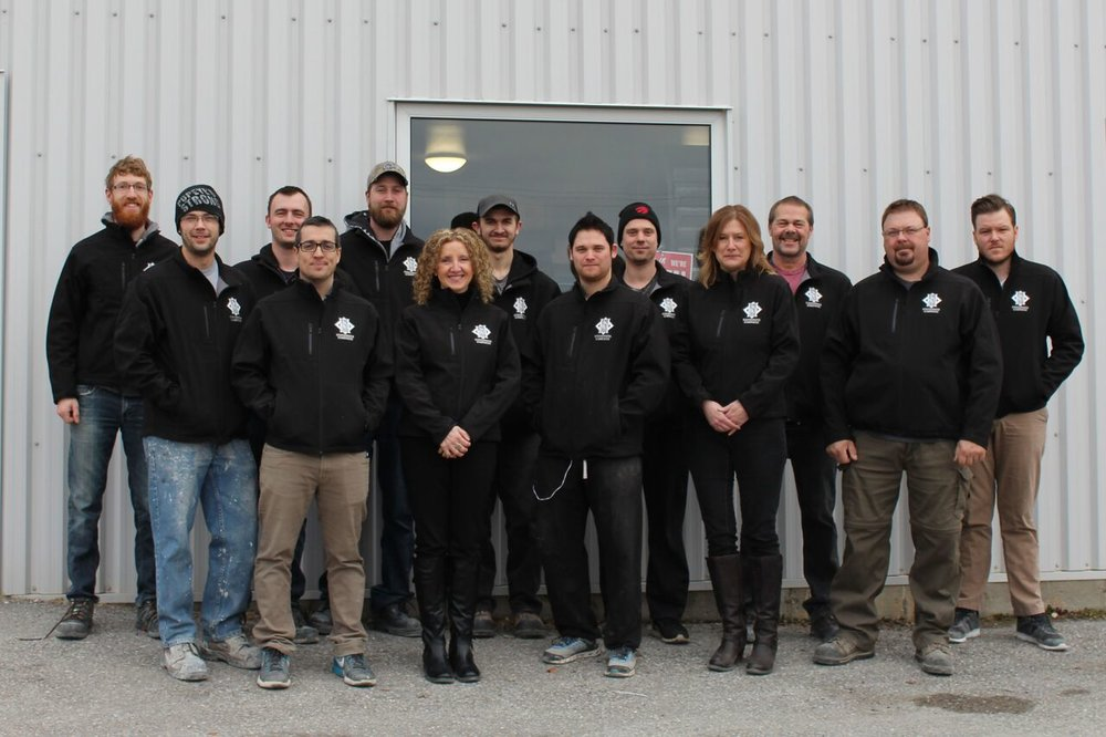 The team at Canadiana Cabinets: Making people's cabinet dreams come true