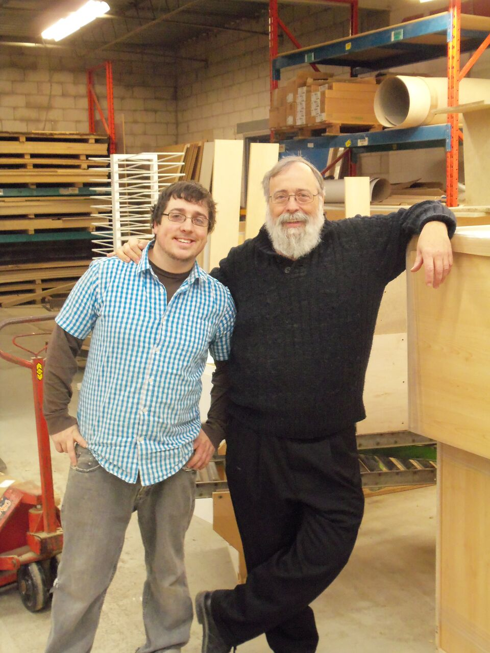 Family run business: Owner Bill Barker (at right) with his son Ian
