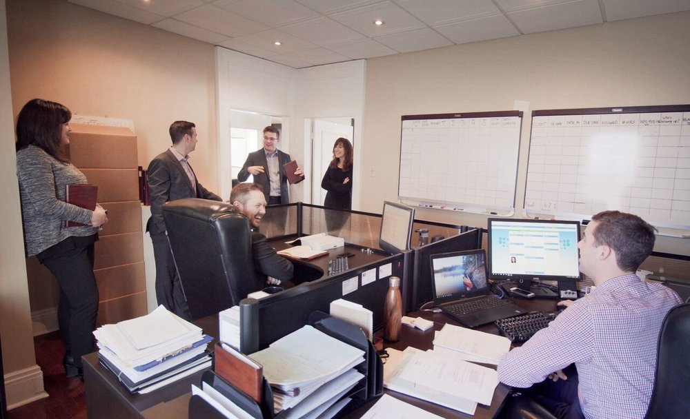 Gauvreau & Associates team is excited about the move to larger quarters.