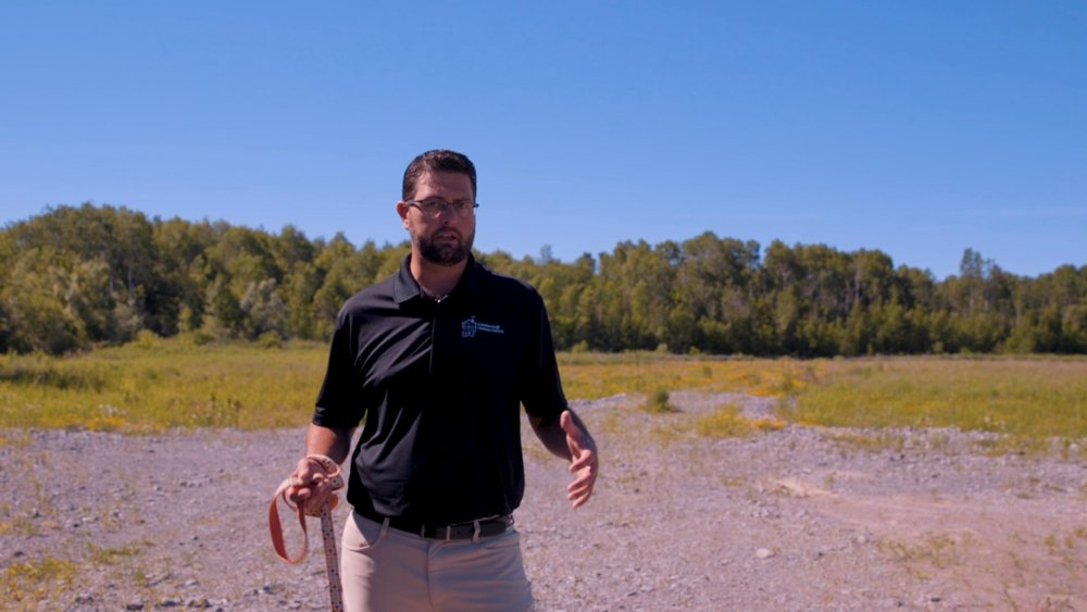 PHS Executive Director Shawn Morey at the site where new PHS will be.