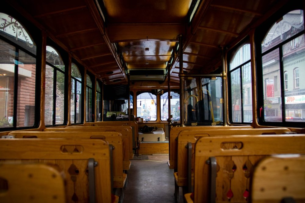 Photo of trolley courtesy DBIA