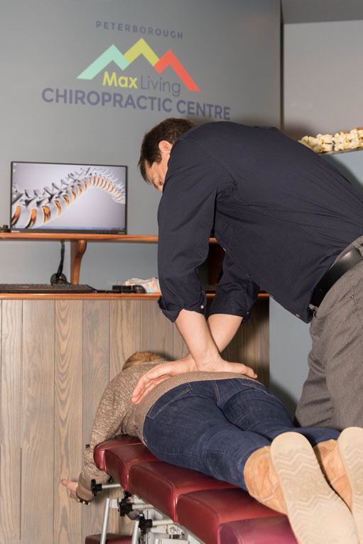 Dr. Doug pictured with a client