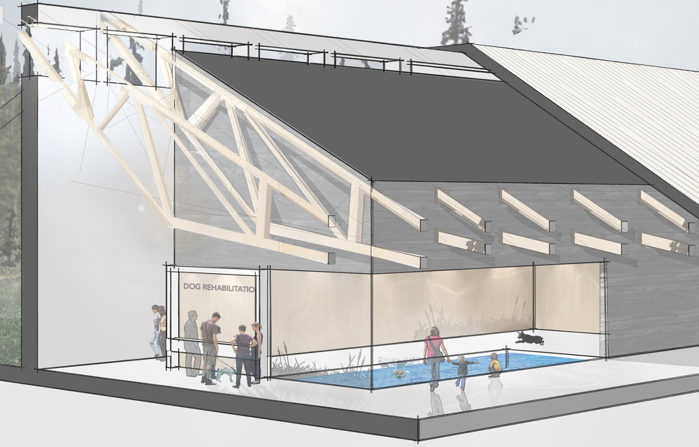 Rendering of the new Peterborough Humane Society designed by Lett Architects