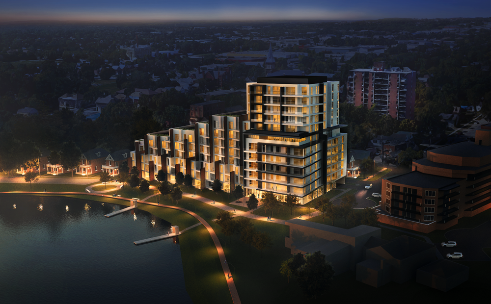 Lett Architect rendering of condo unit proposed for Little Lake