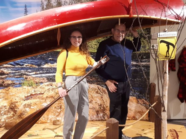Rachel and Rick at Canoe Museum