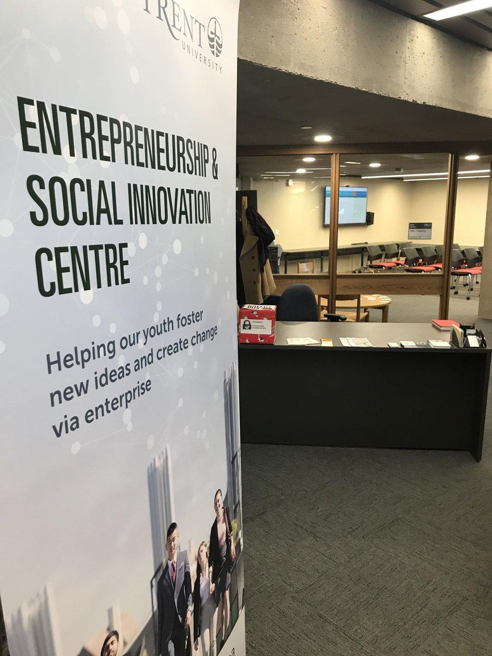 Entrepreneurship & Social Innovation Centre at Trent University's Bata Library