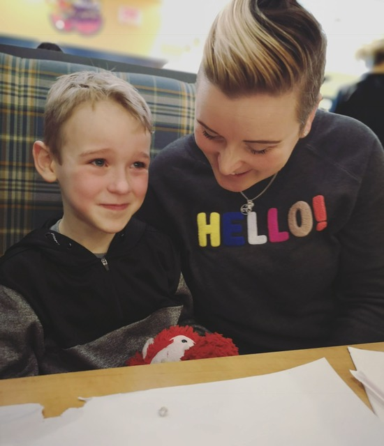 Eli and his mother Amy: The Reunion with Mimi at Cora