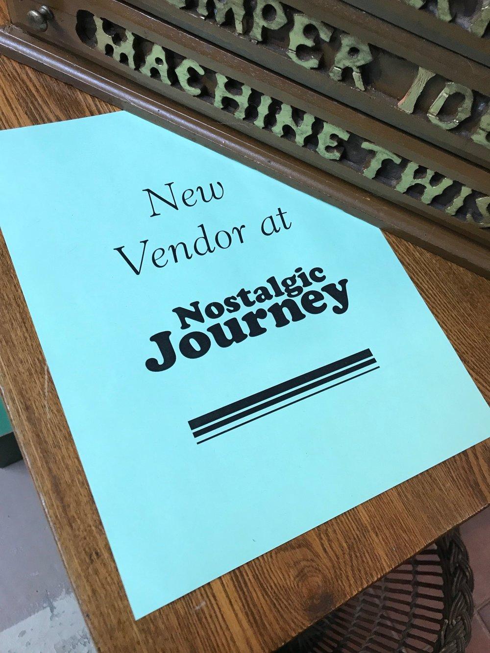 Hall's logo design for Nostalgic Journey