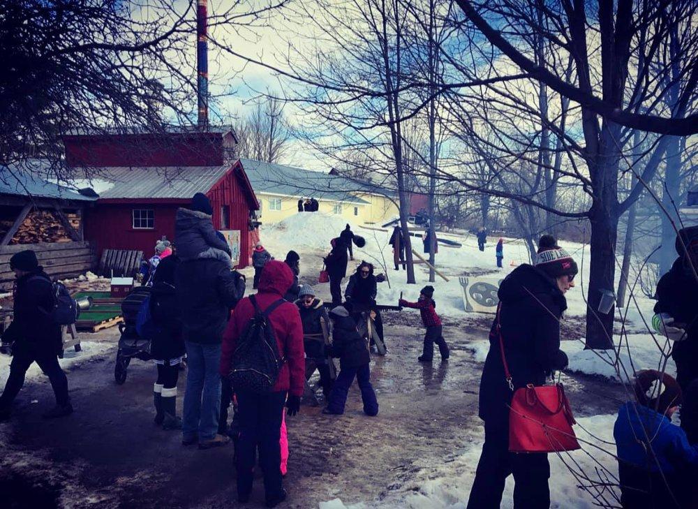 Maplefest photo via McLean Berry Farm Facebook page