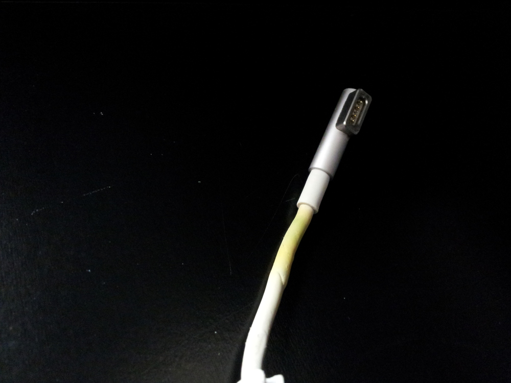 Discolored Power Adapter