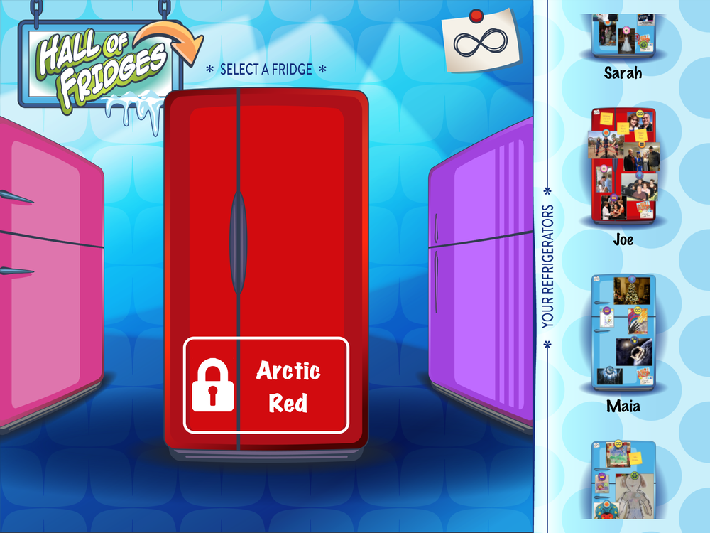 Select your fridge from 6 cool colors