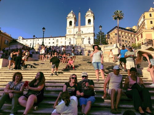 The Spanish Steps: no squalling, shouting, or singing allowed.