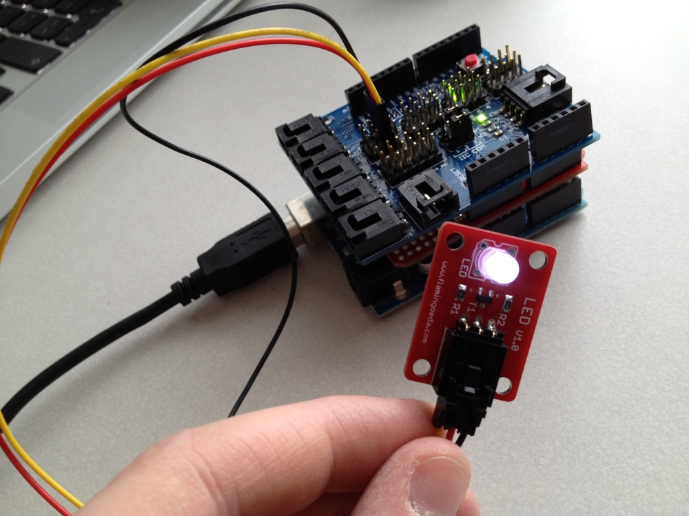 Arduino and Processing LED test