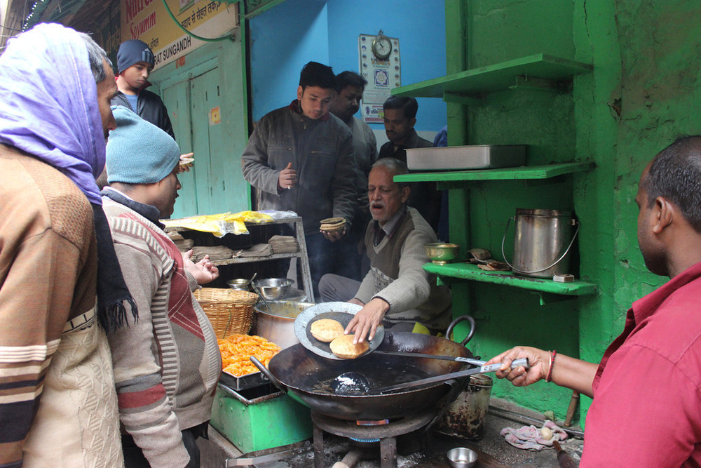 Breakfast on the streets of Varanasi
