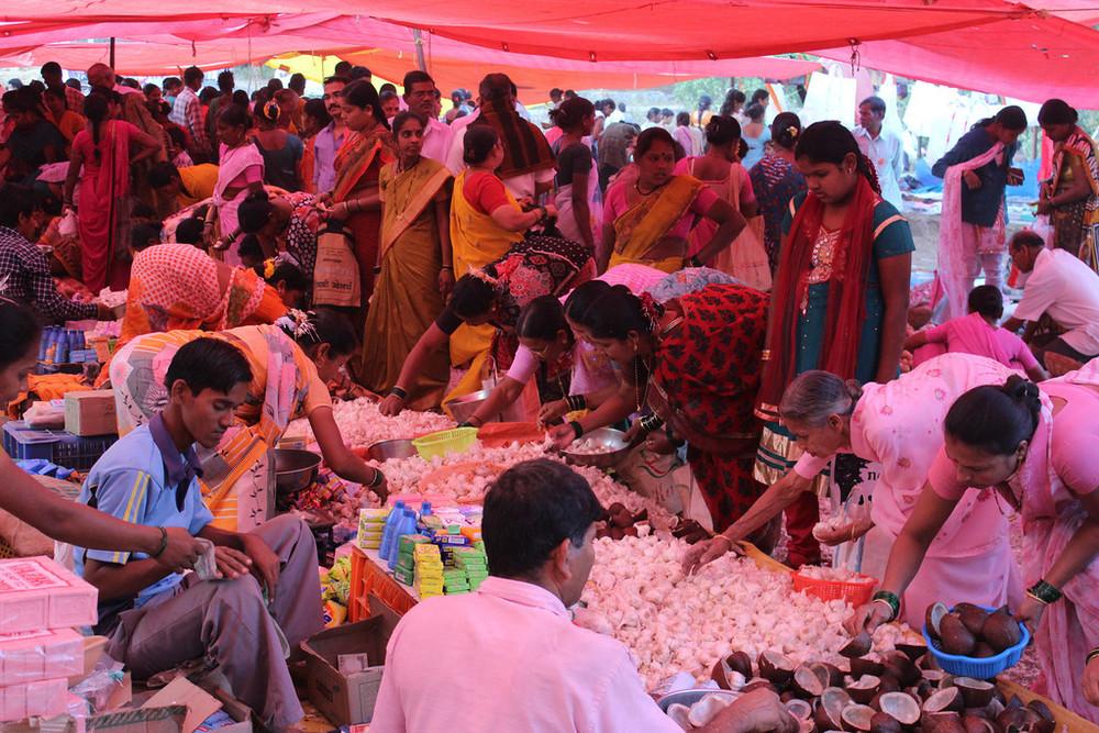 Tent market scene