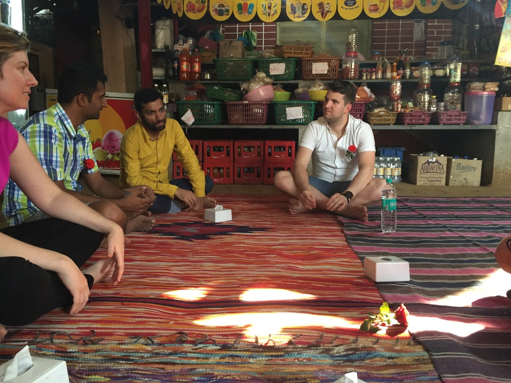 We got to go to a fishing village called Alibaugh outside of Mumbai and have a traditional meal on the floor with our hands.