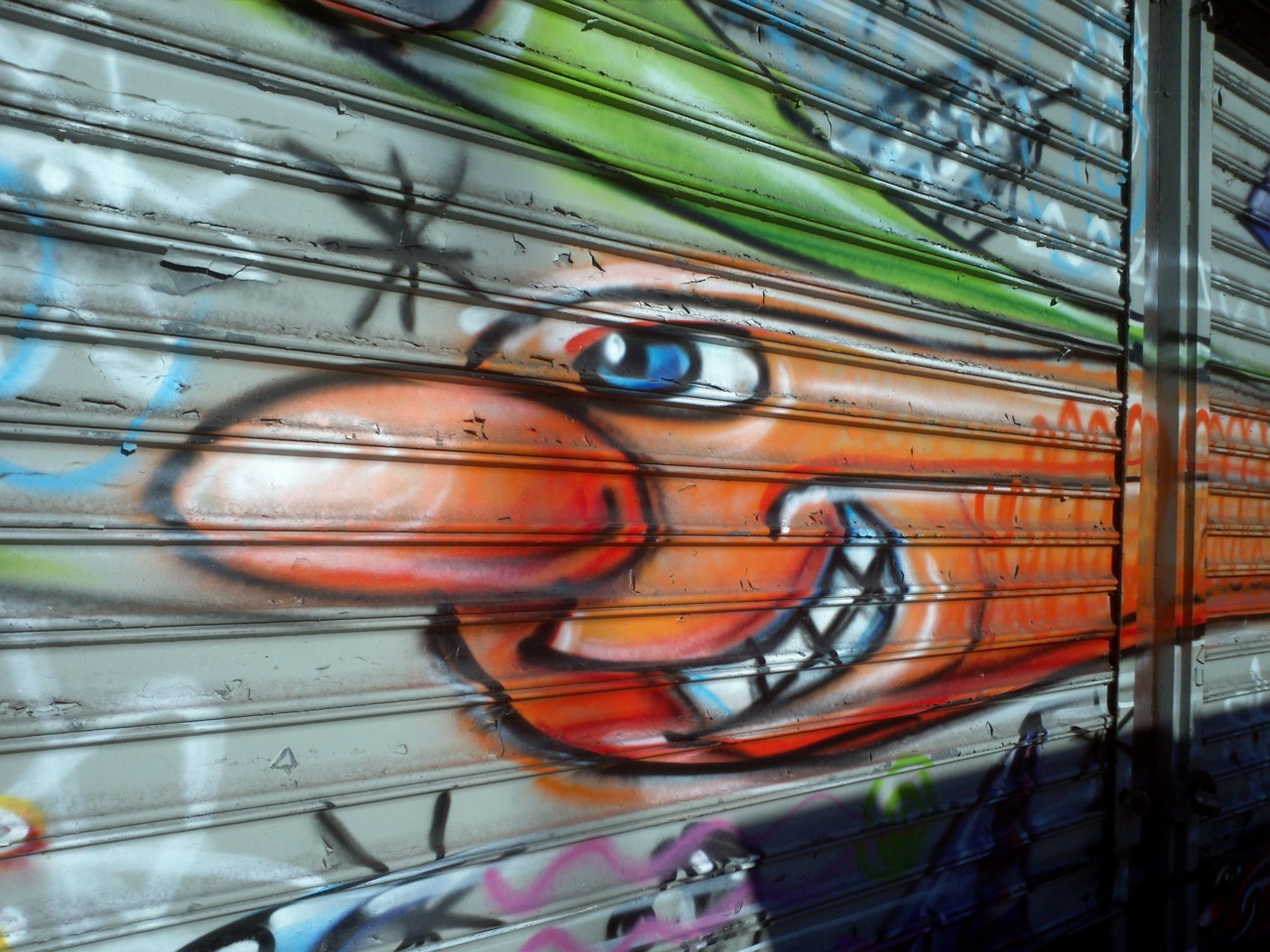 Kenny Scharf on The Bowery.