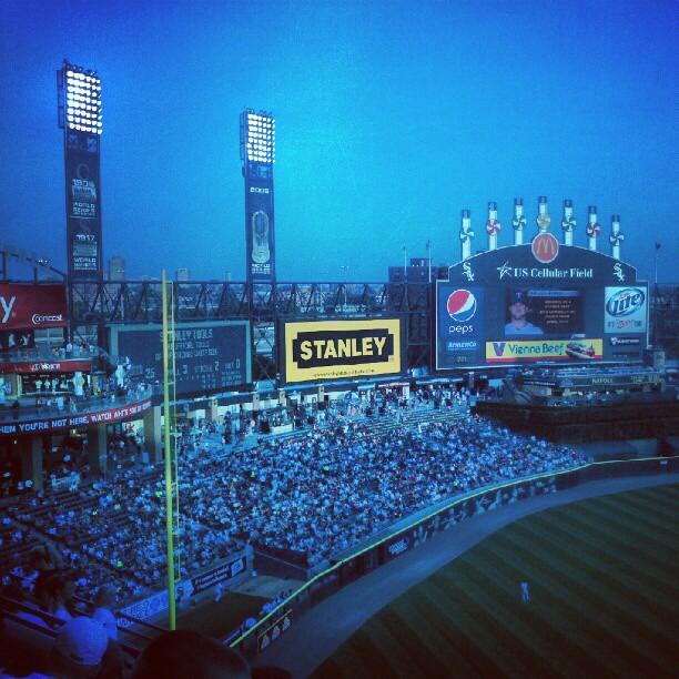 baseball blue. (Chicago)  (Taken with  Instagram )