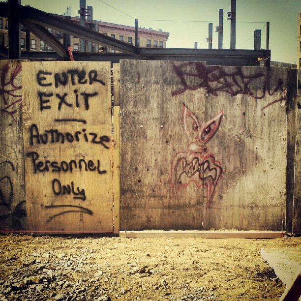 Kenny Scharf secret studio entrance or construction site? you be the judge. (Taken with  Instagram )
