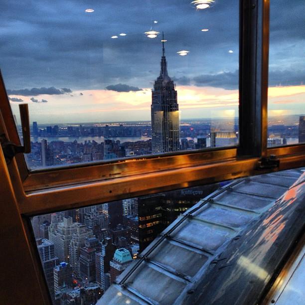 Empire State via Chrysler Building 69th floor