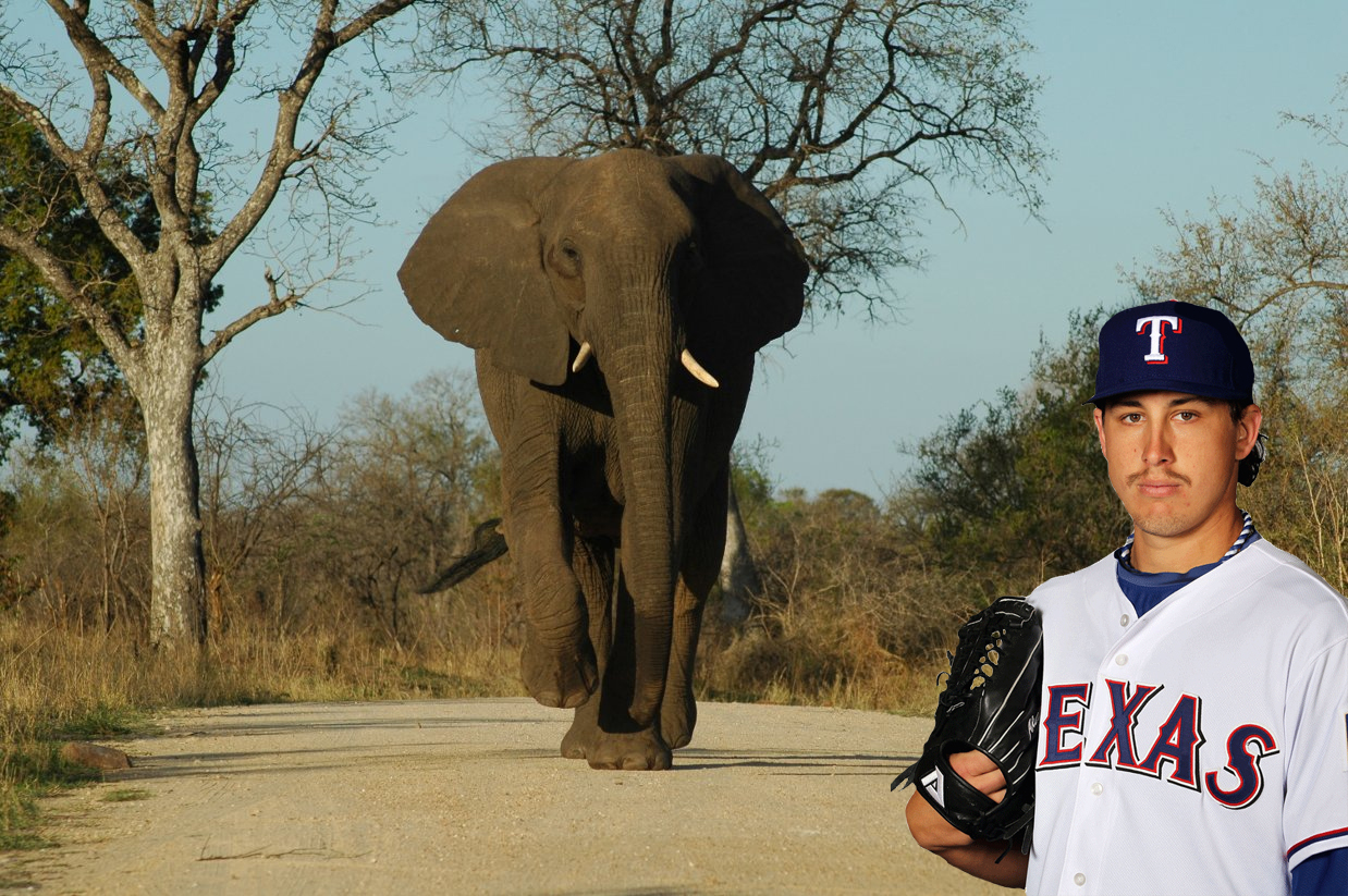 it's opening day for the Texas Rangers Baseball Club.    thislandisholland :     CJ Wilson's not the only one who can go on safari.
