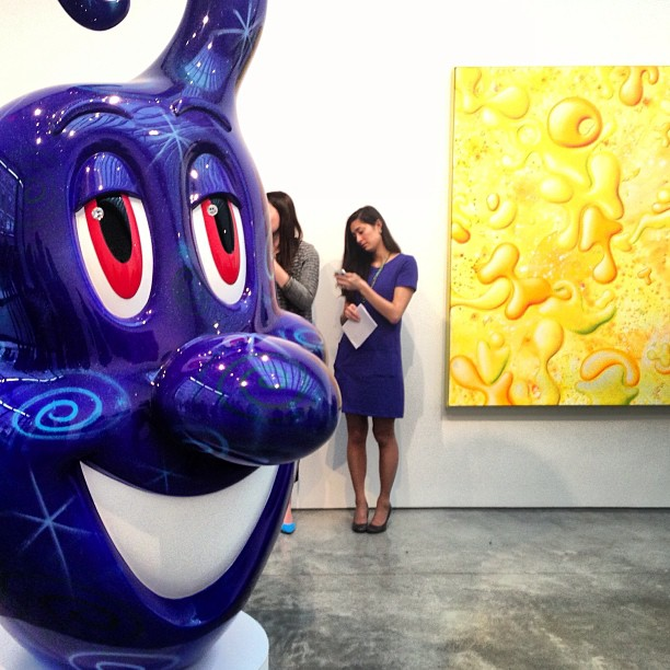 Kenny Scharf, Kolors opening at @kasmingallery