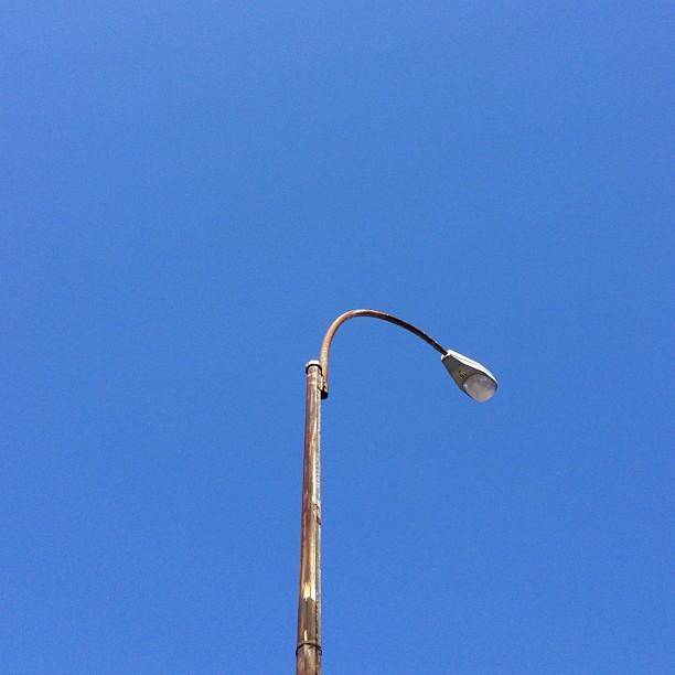 Street light blue.