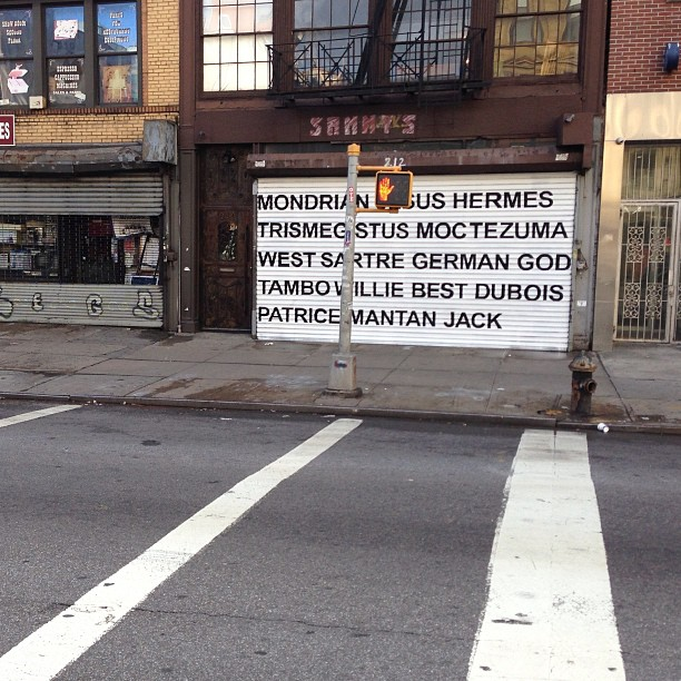 Adam Pendleton text only mural on Bowery via @newmuseum mural project.