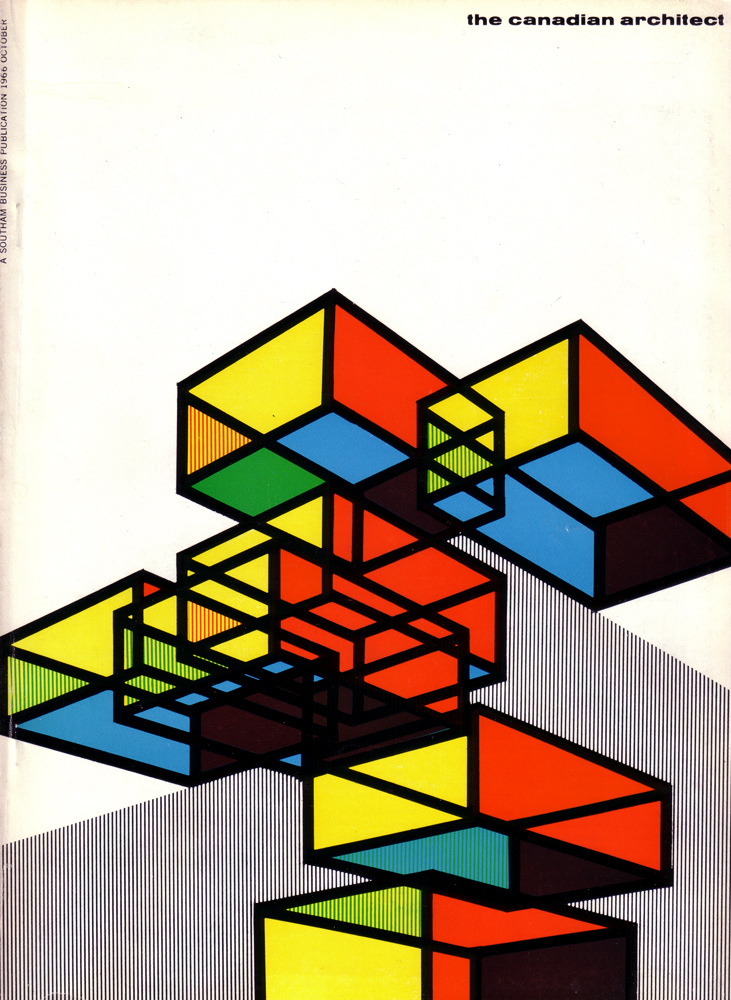 iconoclassic :      The Canadian architect October 1966 vol. 11 no. 10. Cover design by Laszlo Buday (by  oliver.tomas )