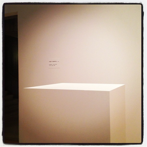 "rebeccataylorny :     Andy Warhol's ""Invisible Sculpture"" (Taken with  Instagram  at Hayward Gallery)"