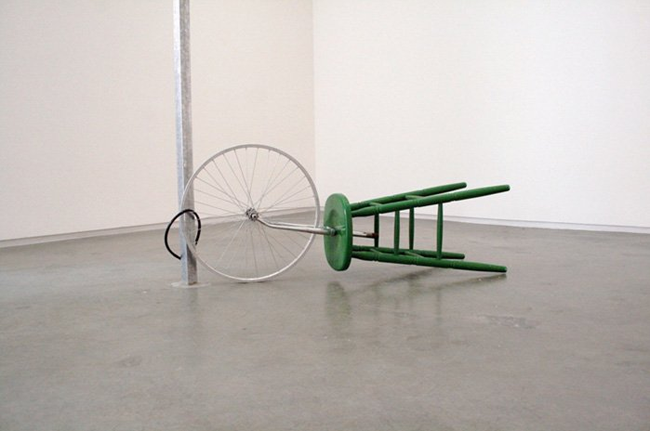 like when DuChamp comes to Brooklyn…    slowartday :      Cézary Bodzianowski  ,  Giro d'italia , 2007