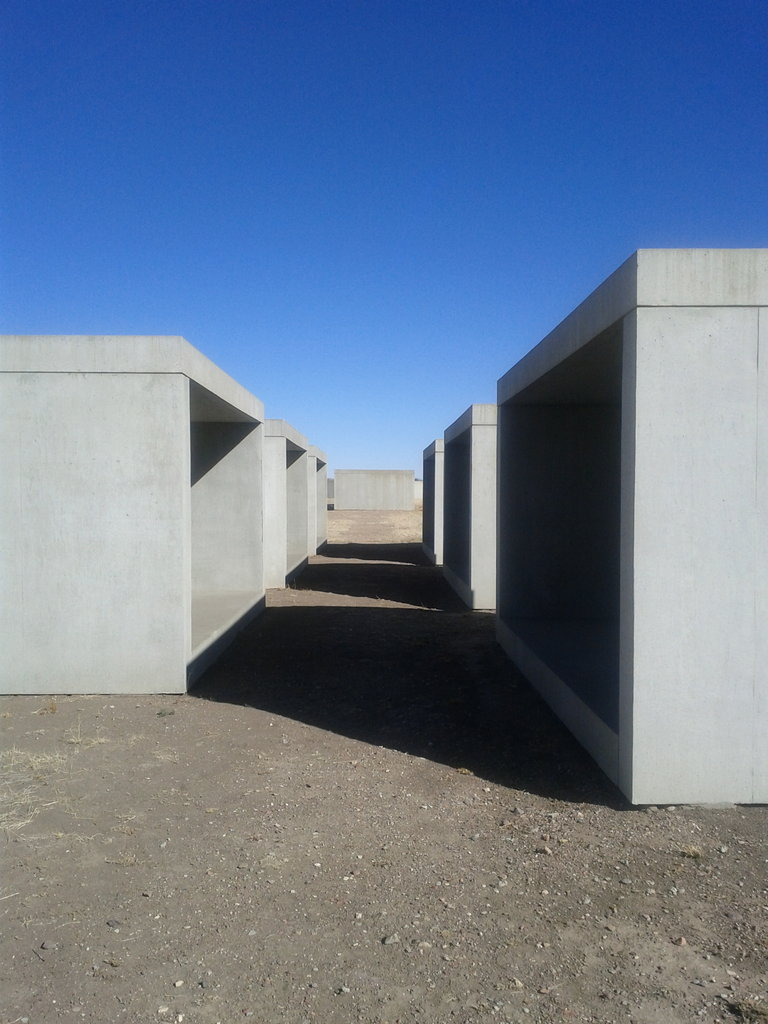 do yourself a favor and add Marfa to your bucket list. trust.    ummhello :     Donald Judd. #wwdjd (Taken with  picplz  at  The Chinati Foundation  in  Marfa, TX .)