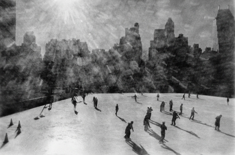 explore-blog :     Skaters descend on the Wollman Memorial Rink in Central Park, despite the freezing weather,  on this day in 1968 .